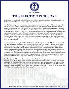 VOTING IS NO JOKE AME V-Alert Section 3-