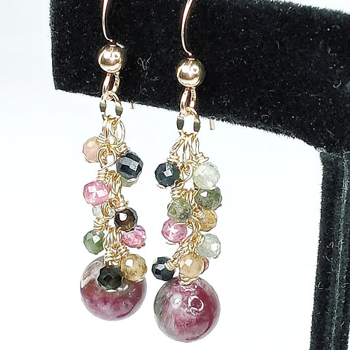 Tourmaline Gemstone Earrings