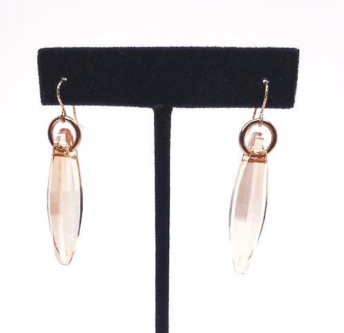 Swarvoski Crystal Ellipse Earrings