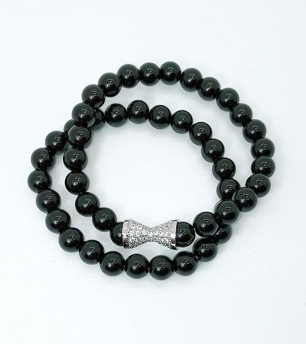 Black Onyx Bracelet Set