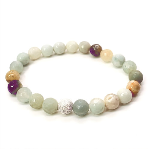 Amazonite Bracelet with Stardust Bead
