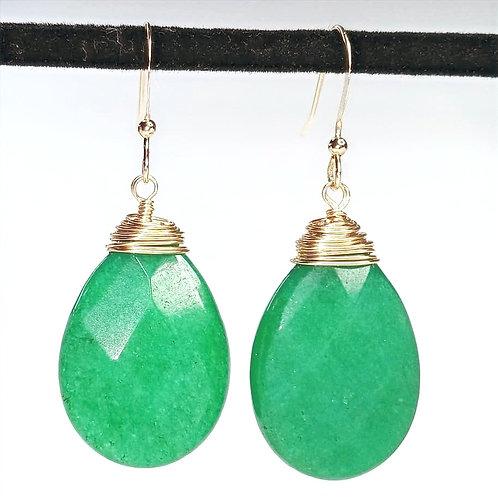 Emerald Green Candy Jade Earrings
