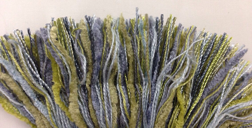 Seaside Brush Fringe - Blue & Green