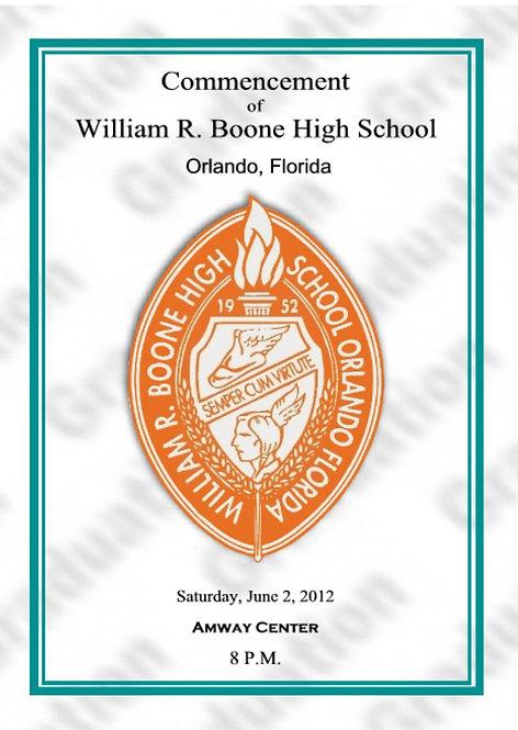 Boone High School 2012 Graduation