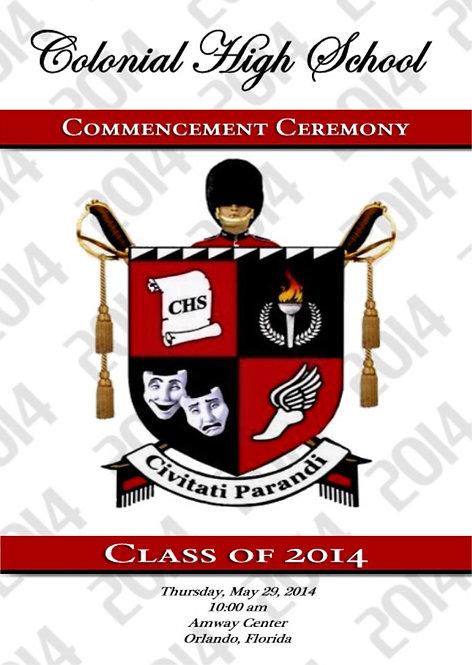 Colonial High School 2014 Graduation