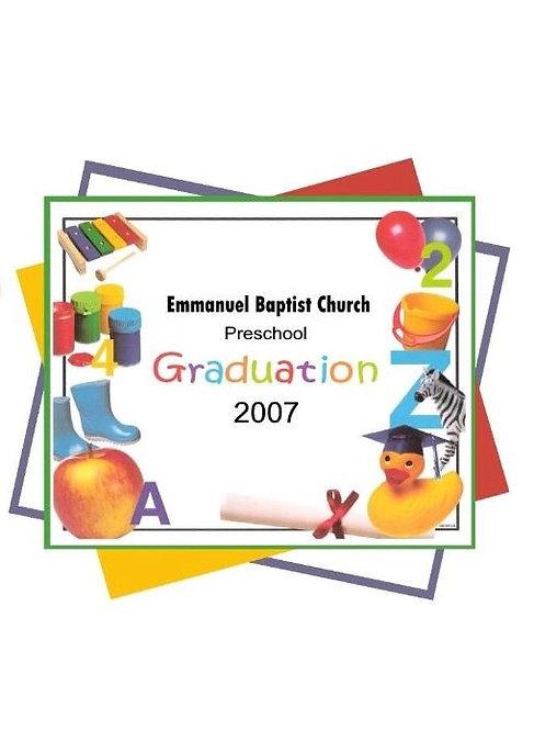 Emmanuel Child Care Graduation - 6/2007