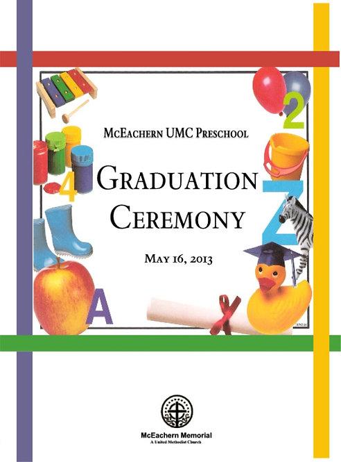 McEachern UMC Preschool Grad - 5/2013