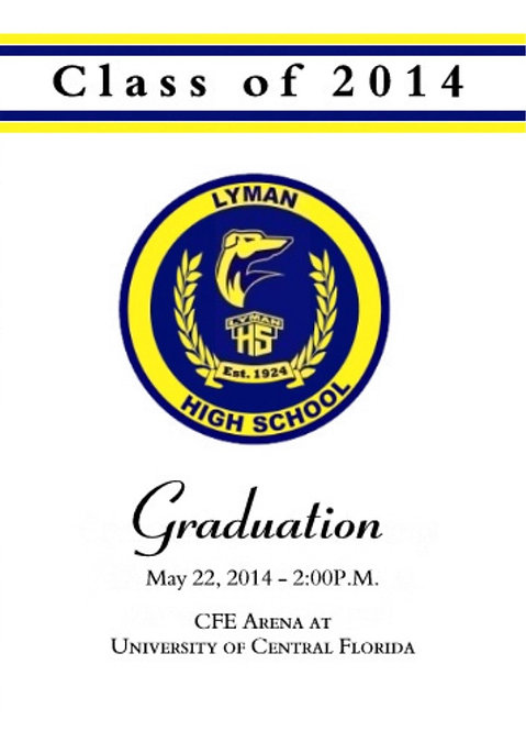 Lyman High School '14 Grad