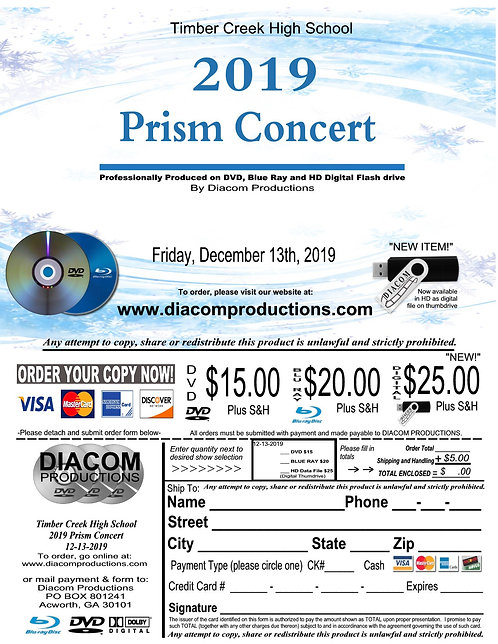 Timber Creek High School Prism Concert - 12/13/19