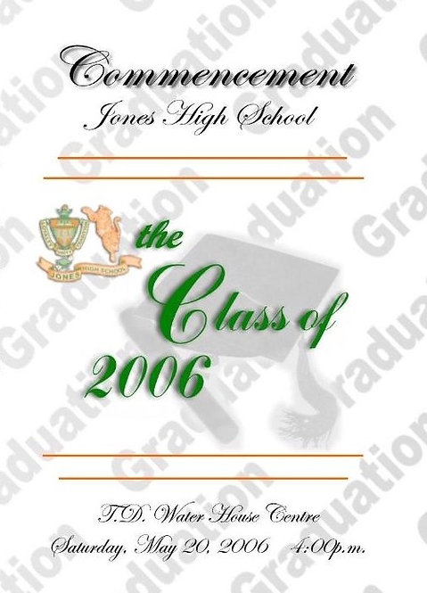 Jones High School 2006 Graduation