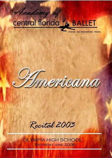 Central Florida Ballet - 6/2003