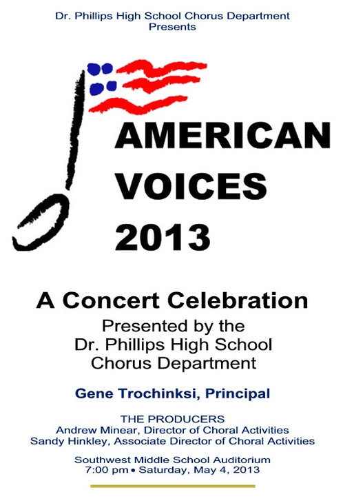 Dr Phillips High School Chorus - 5/2013
