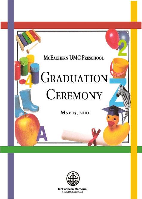 McEachern UMC Preschool Grad - 5/2010