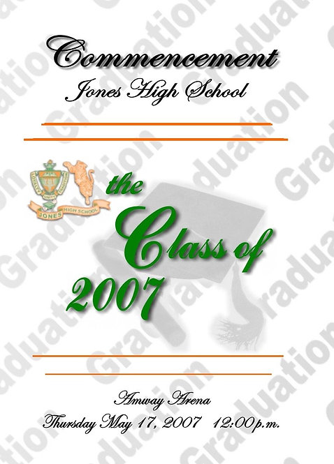 Jones High School 2007 Graduation