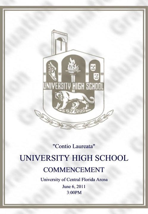 University High School 2011 Graduation