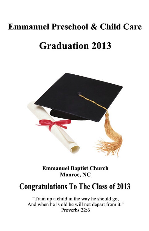 Emmanuel Child Care 2013 Graduation
