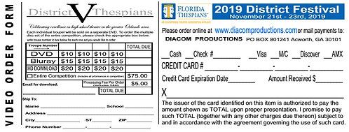 Florida Thespians District 5 Festival 2019