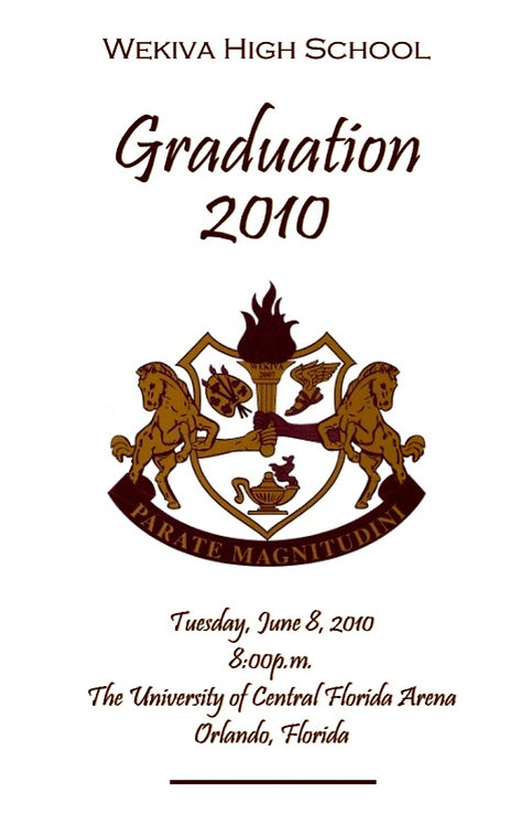 Wekiva High School 2010 Graduation