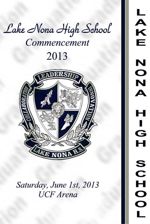 Lake Nona High School '13 Grad