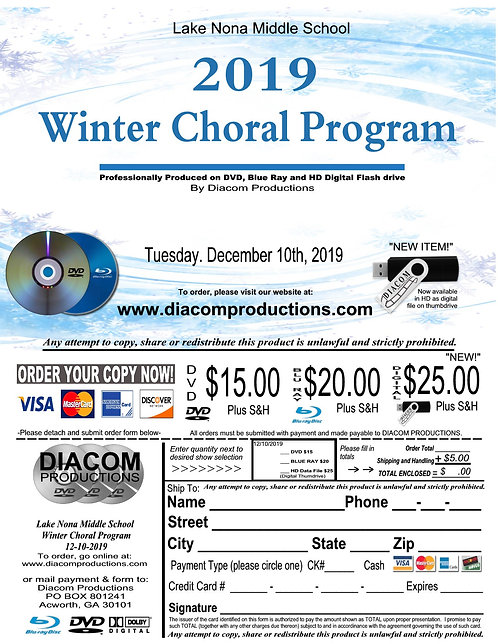 Lake Nona MS Chorus - 12/10/19