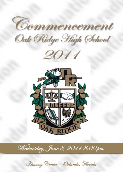 Oak Ridge High School 2011 Graduation