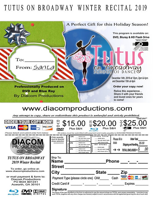 Tutus on Broadway School of Dance - 12/14-15/2019