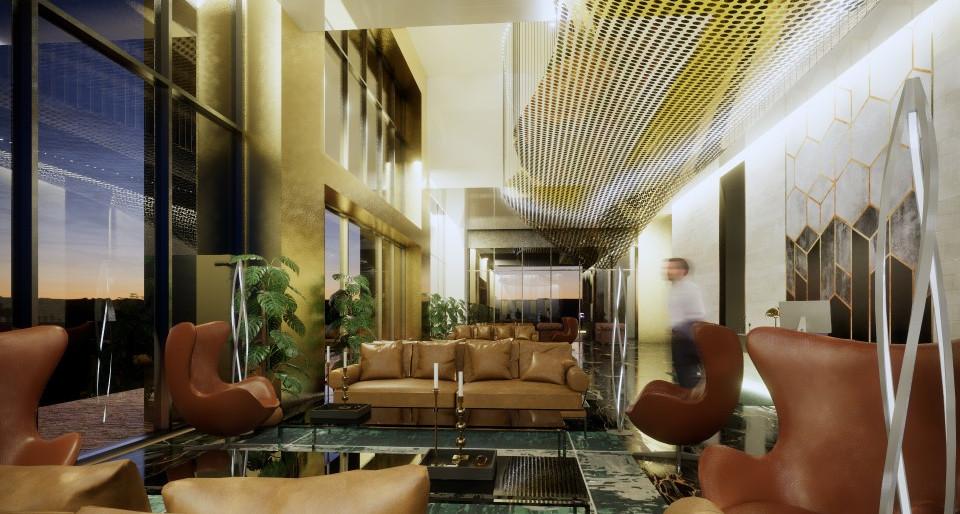 Wellness Hotel Reception Area