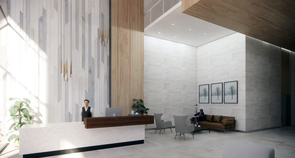 Sky Residence Reception Area