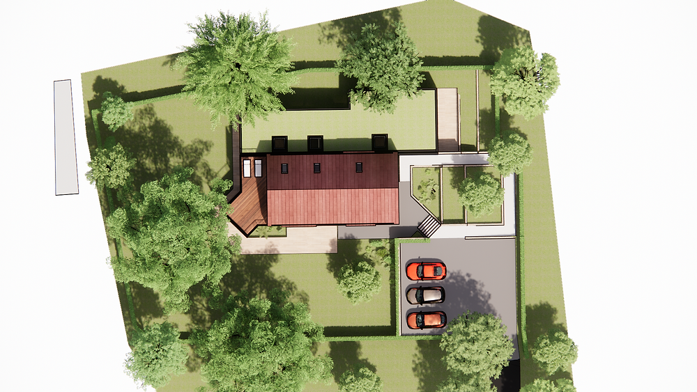 CGI showing site layout for a new planning application.