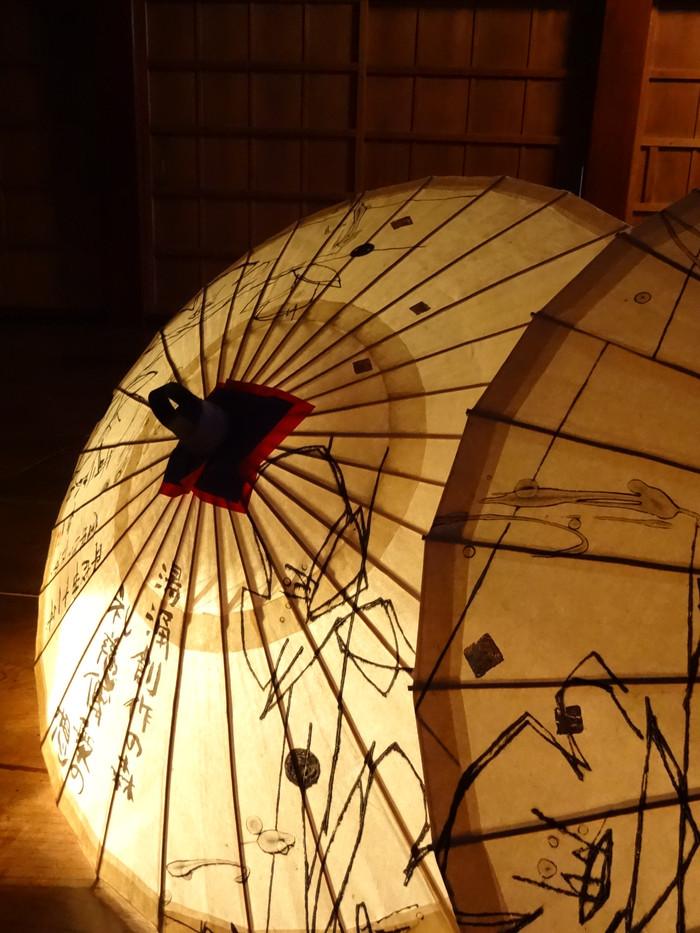 作品和傘仕立て