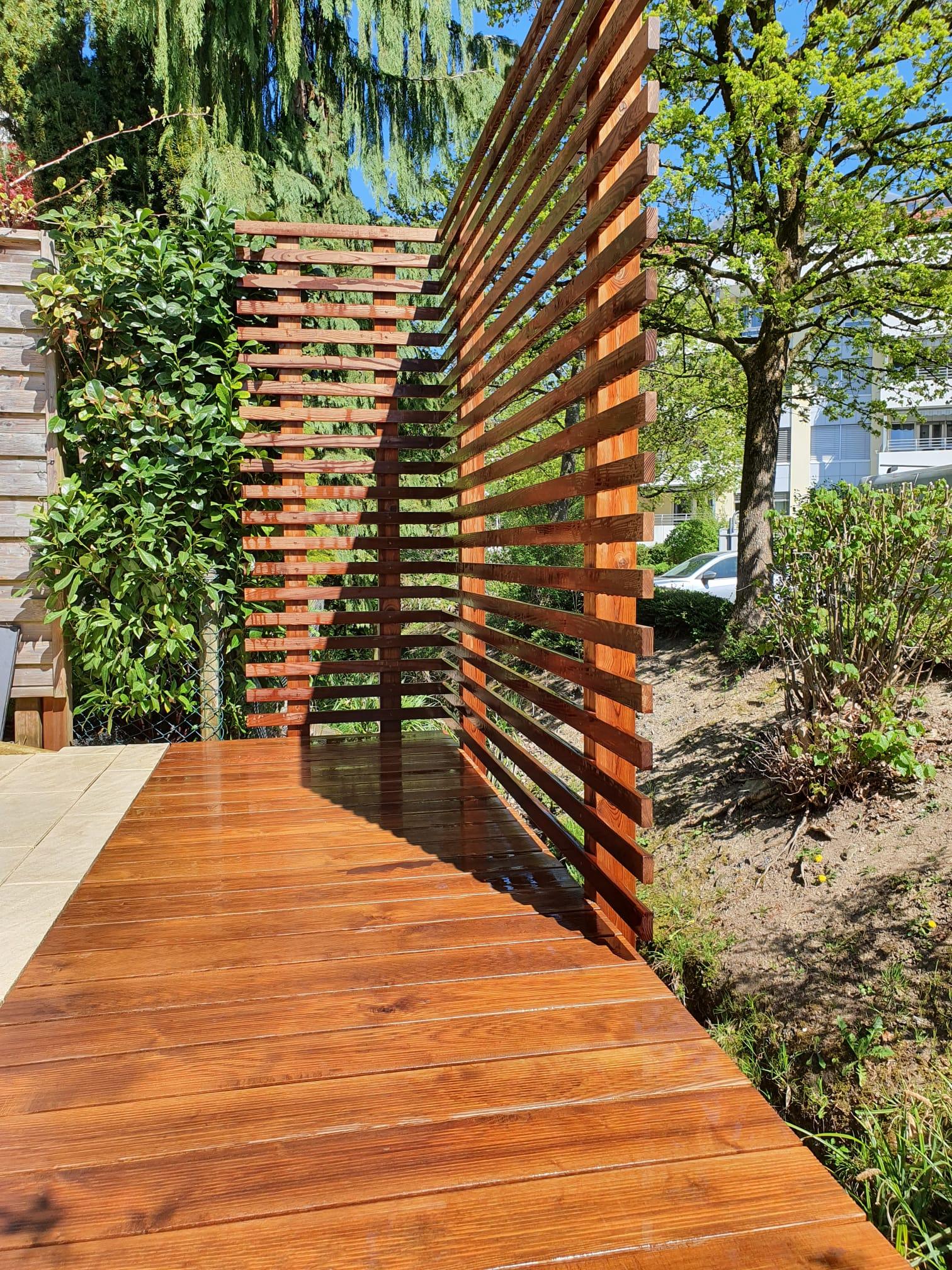 Terrassenboden-Sichtschutz, Brunnen Auw Dallenwil Risch Kerns Rotkreuz Root Inwil Rothenburg Isleten