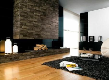 Kaminverkleidung mit Quarzit-Natursteinplatten