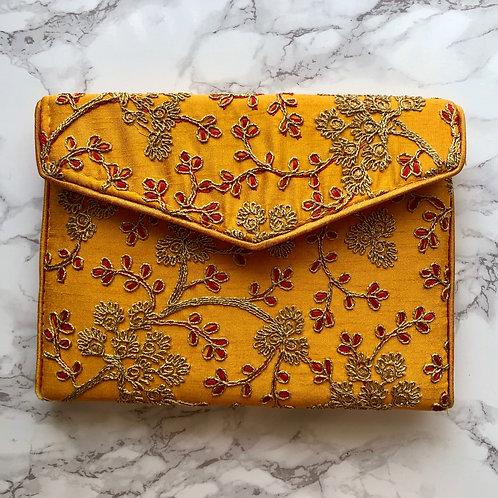 ORANGE/ GOLD/ RED EMBROIDERED BAG
