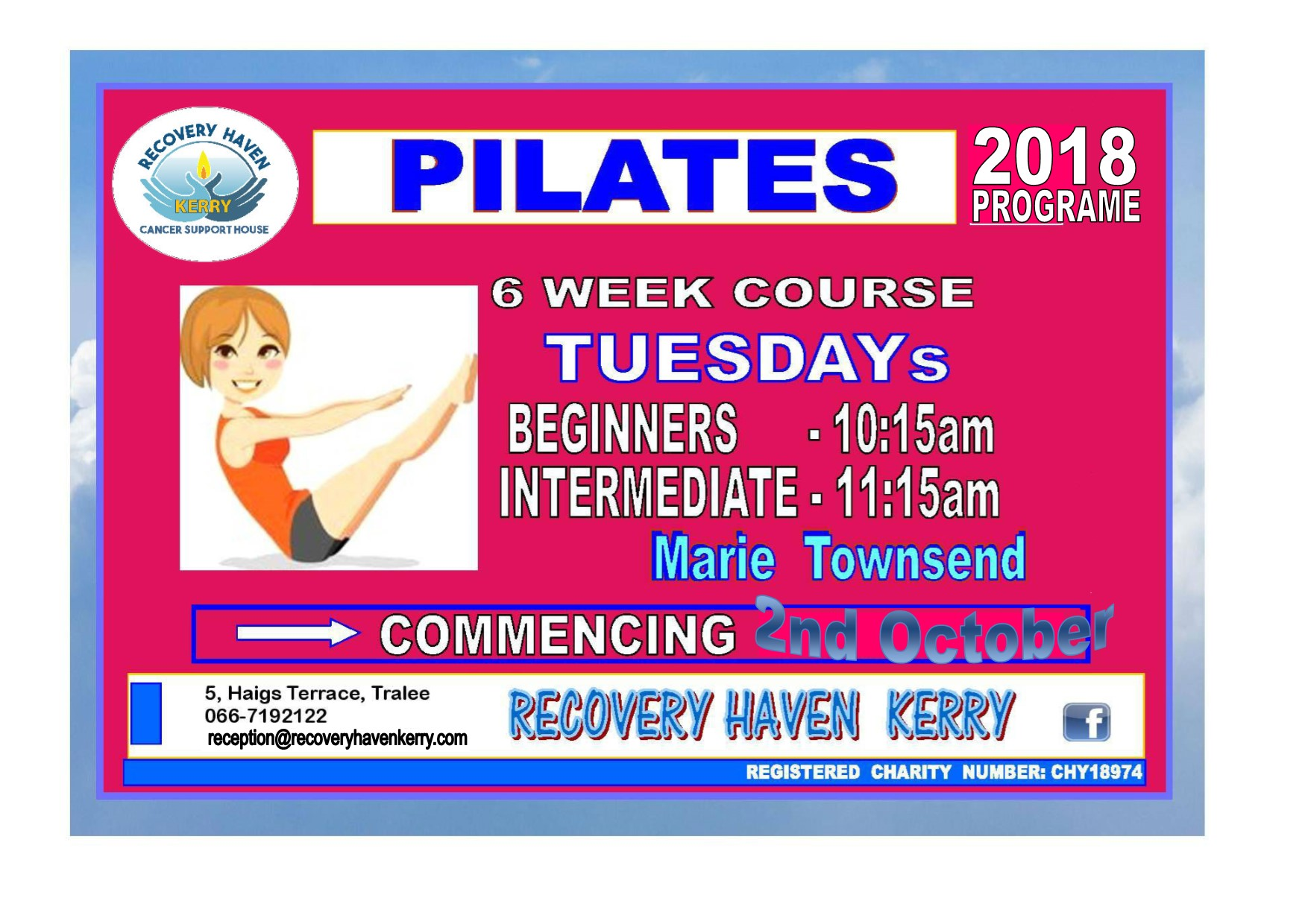 Pilates 2018 poster
