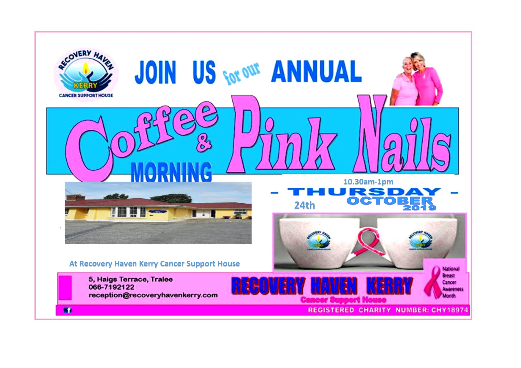 Pink nails coffee morning Tralee 2019