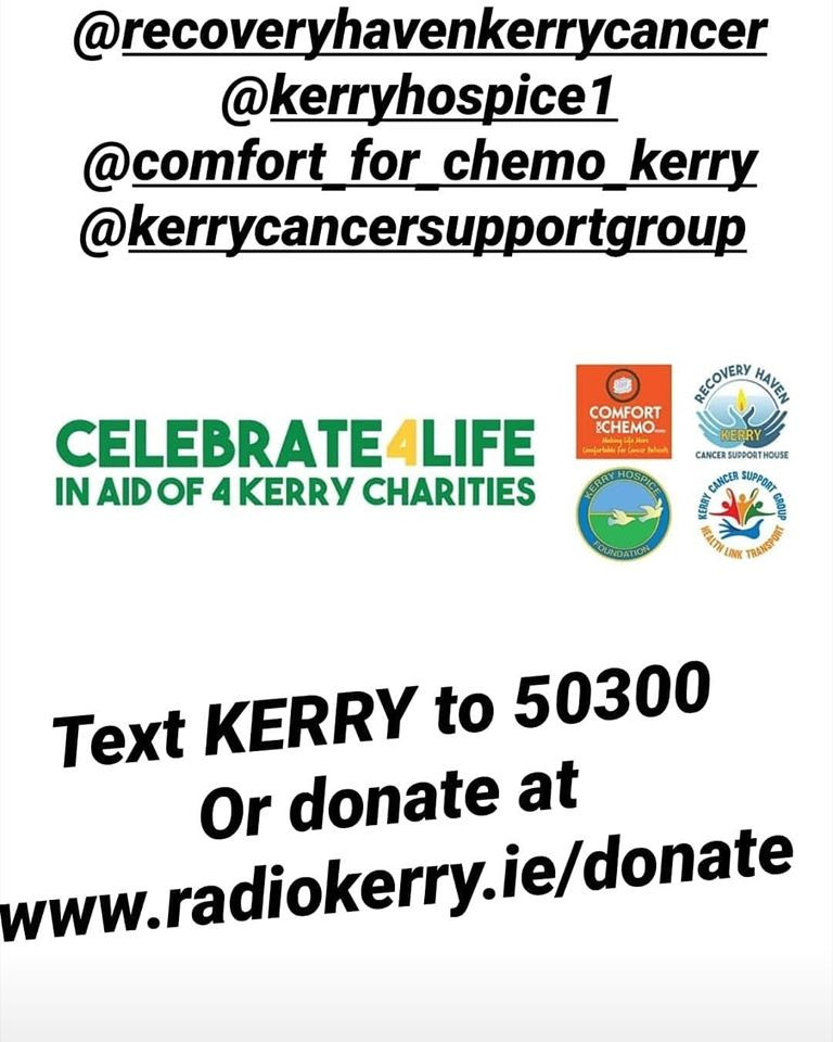 Please please support this AMAZING cause in aid of Kerry's vital suppprt services. Text KERRY to 50300 to donate €4 Log onto www.radiokerry.ie/donate