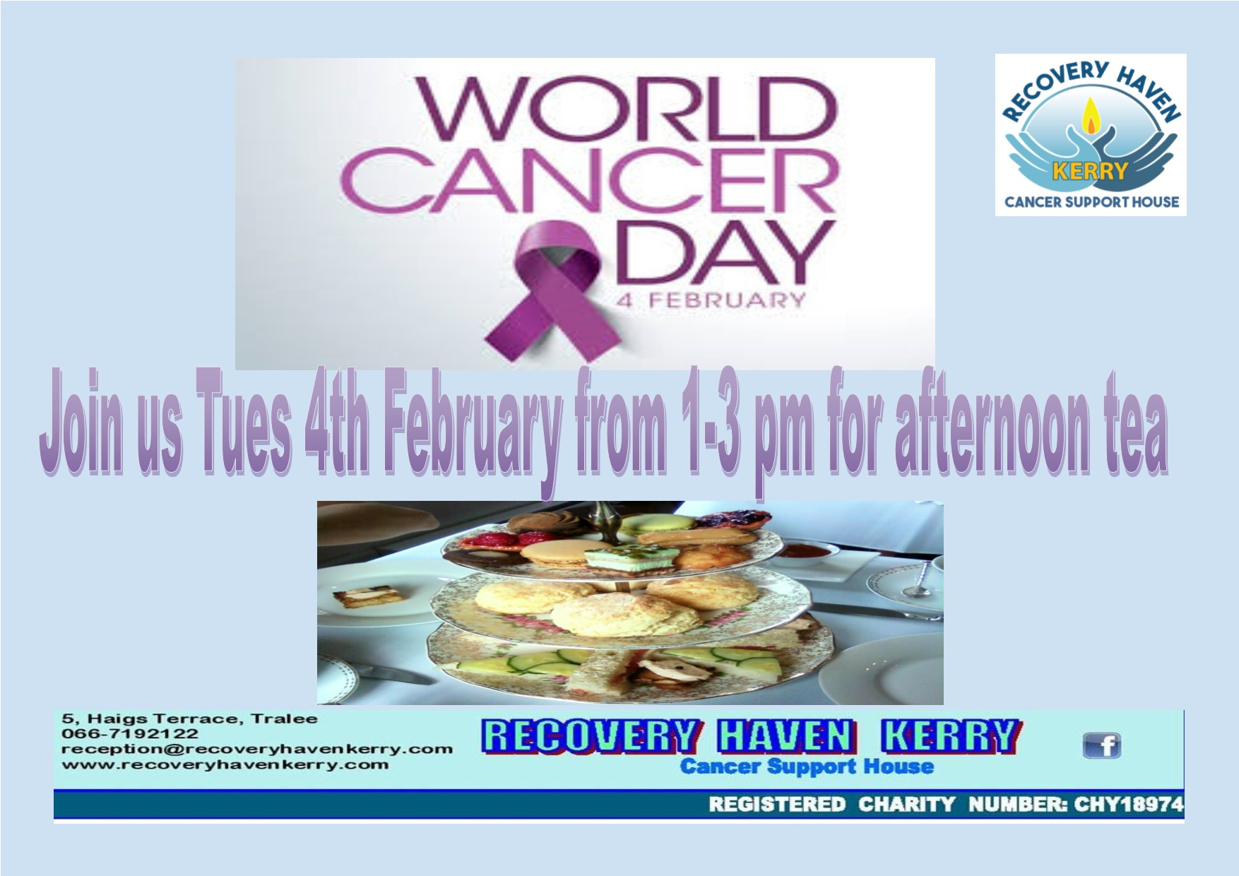 World Cancer Day afternoon tea