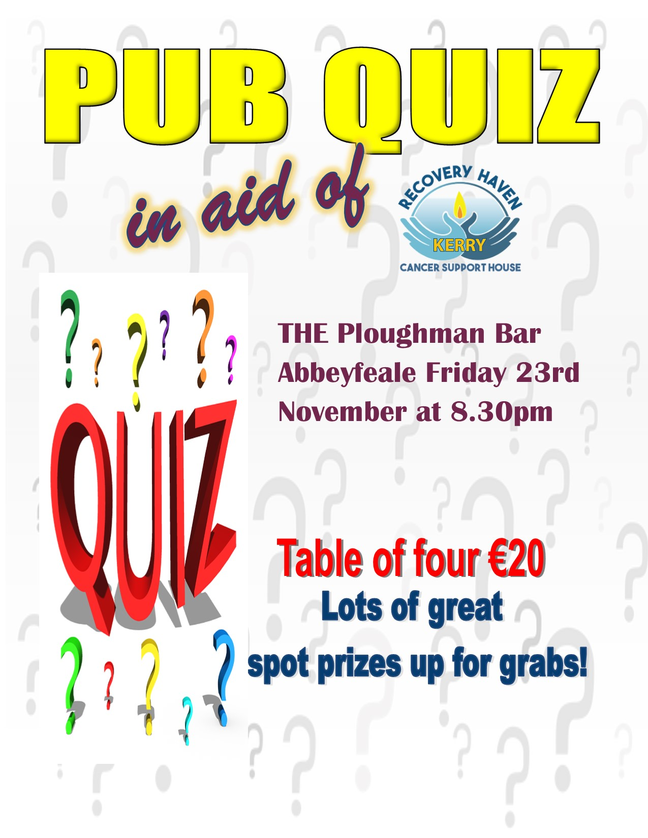 Pub Quiz at the Ploughman Bar