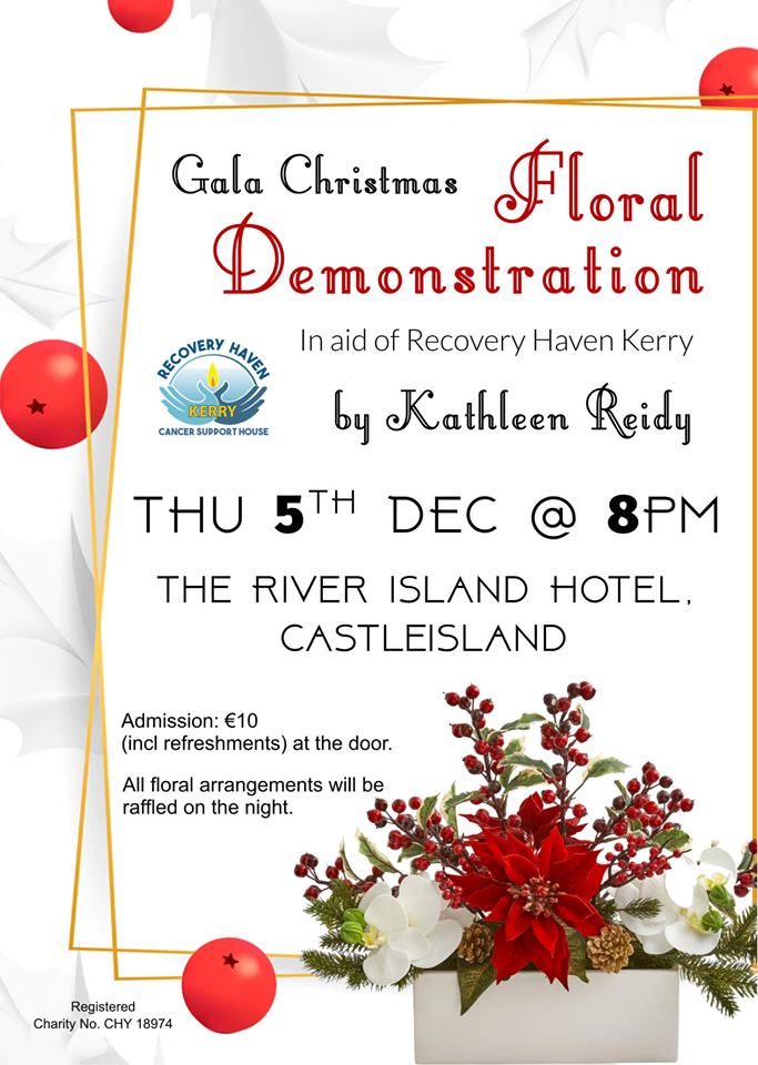 Flower Demonstration Thursday 5th Dec at