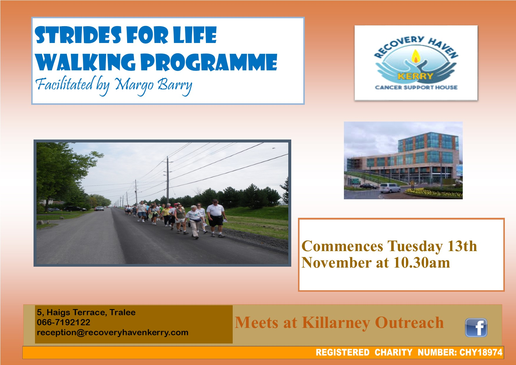 Strides for life walking Poster