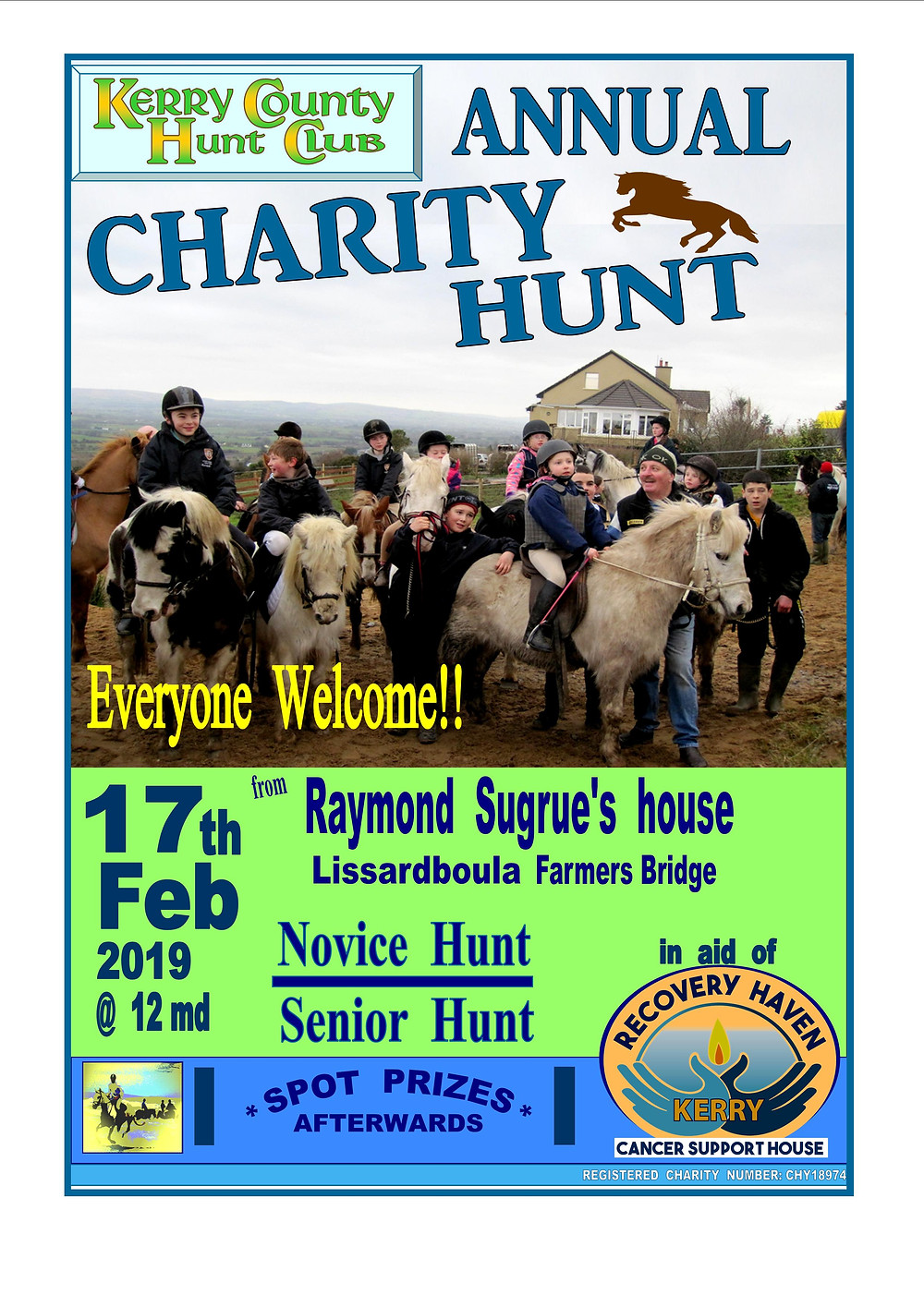 For all you Horsey enthusiasts join Raymond Sugrue for his annual event in aid of Recovery Haven Kerry!