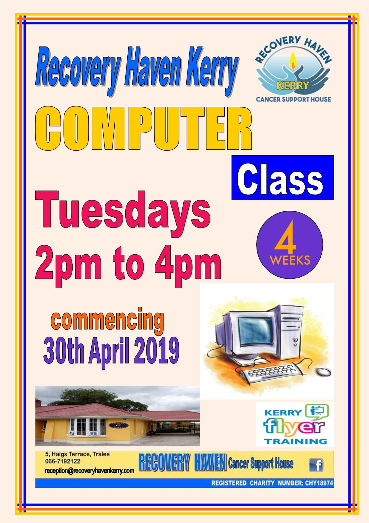 Computer class 2019 commencing April 30t
