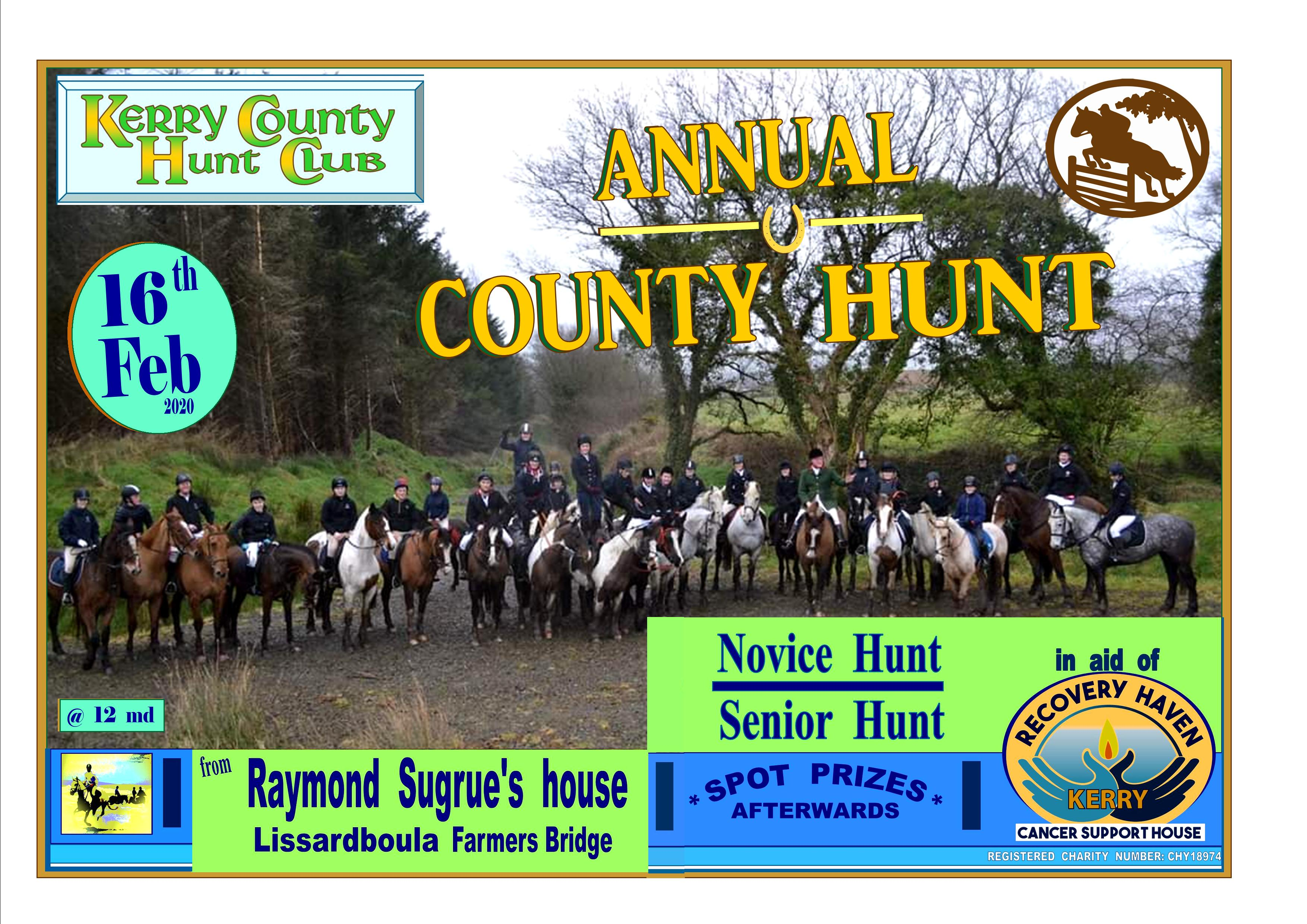 Annual Charity Hunt 16th February 2020