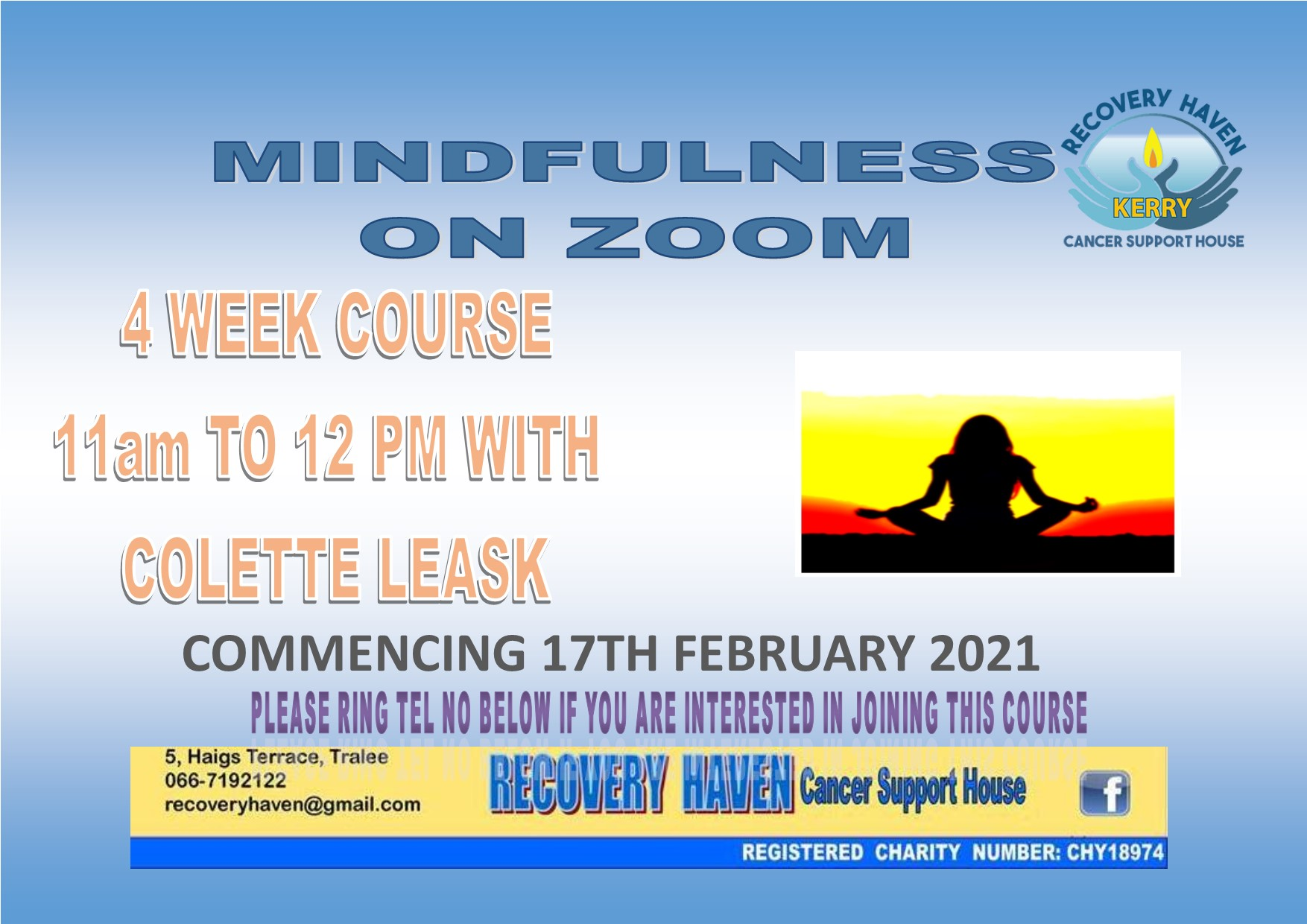 Mindfulness Commencing 17th Feb 2021