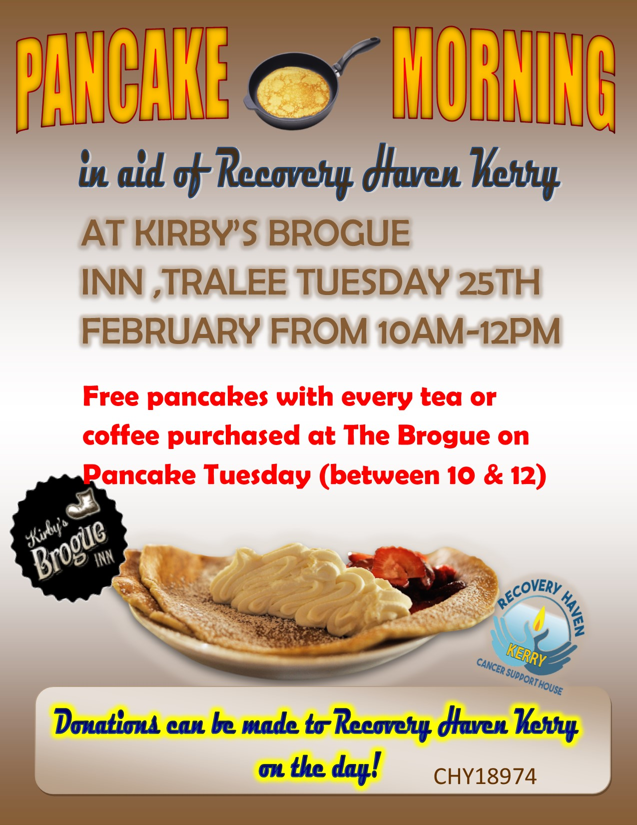 Pancake Tuesday Kirby's Brogue 2020