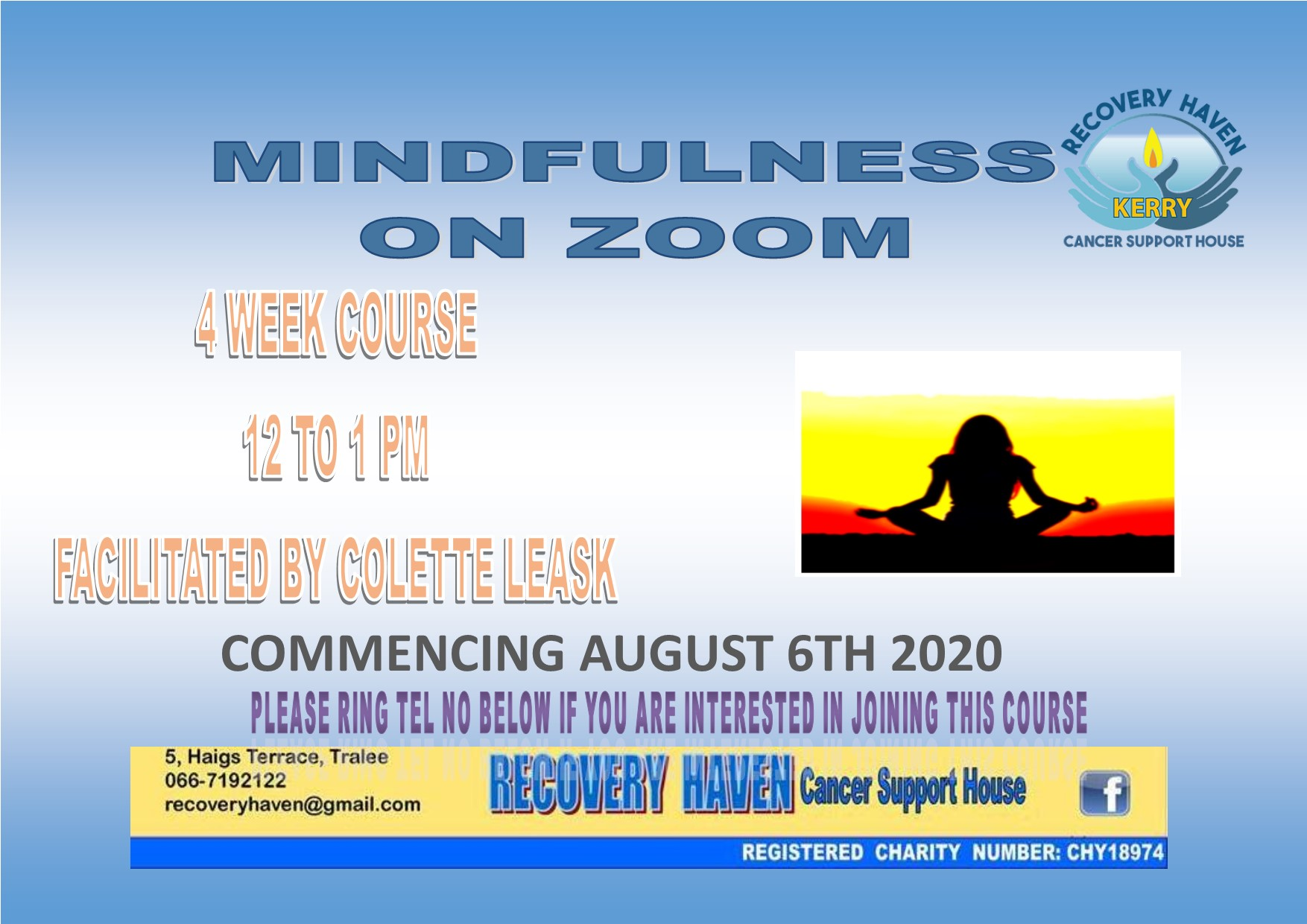 Mindfulness ZOOM August 2020