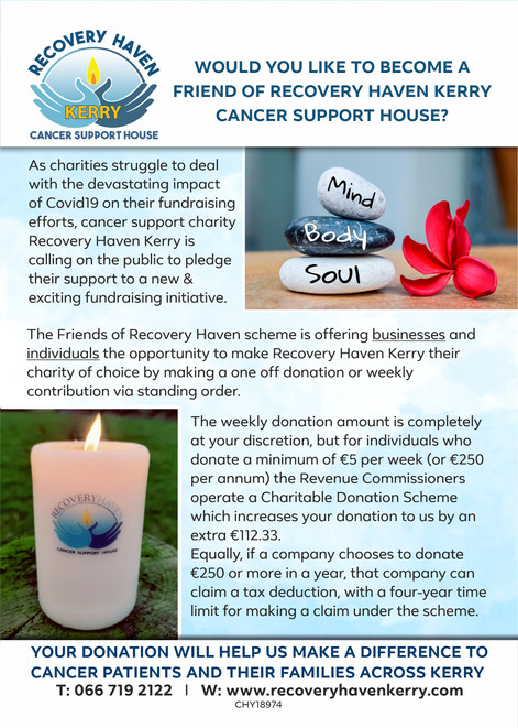 WOULD YOU LIKE TO BECOME A FRIEND OF RECOVERY HAVEN CANCER SUPPORT HOUSE?