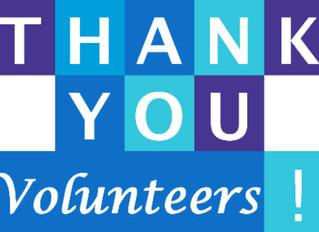 Thank you to our wonderful Volunteers #13th-19thMay #VOLUNTEERWEEK
