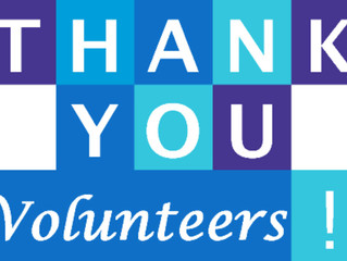 Thank you to our wonderful Volunteers #13th-19thMay #VOLUNTEERWEEK
