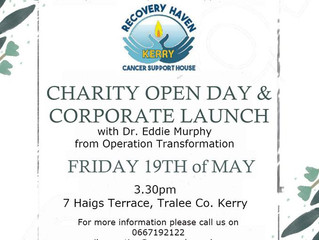 Open Day & Corporate Launch taking place in Recovery Haven Kerry Cancer Support House No.7 Haigs
